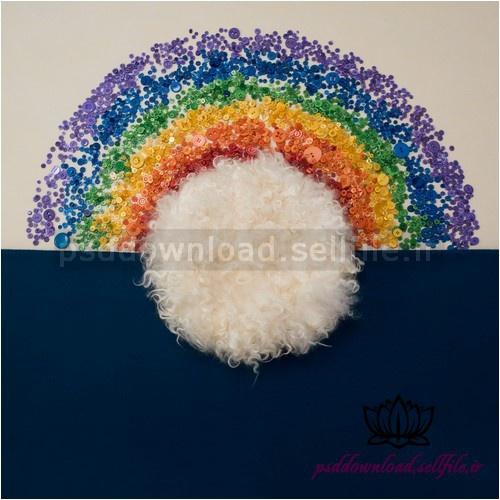 بک دراپ نوزاد رنگین کمان -کد 1040