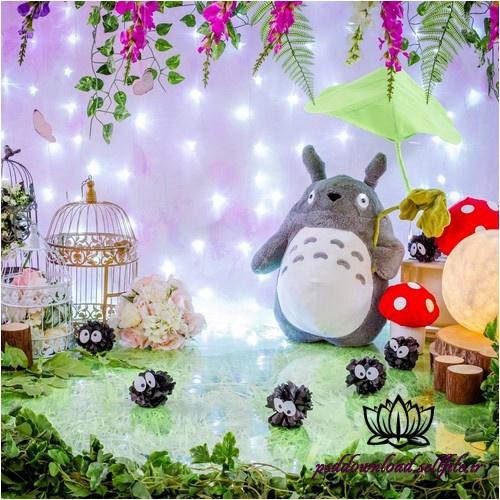 بک دراپ تولد تم خرگوش کپل در باغ بهاری -کد 4975