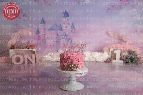 بک دراپ تولد تم قصر رویایی-کد 6244