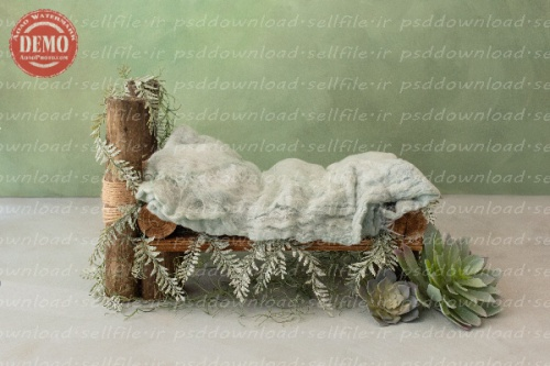 بک دراپ نوزاد تخت خواب چوبی پسرونه -کد 6290