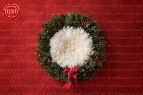 بک دراپ نوزاد سبد کریسمس -کد 6307