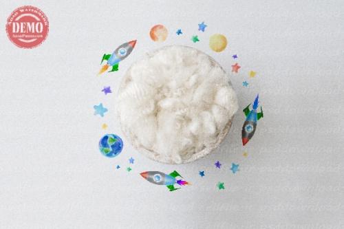 بک دراپ نوزاد فضانوردی -کد 6314