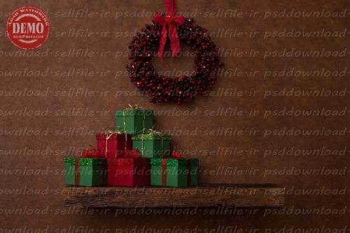 بک دراپ نوزاد تاقچه کریسمس -کد 6317