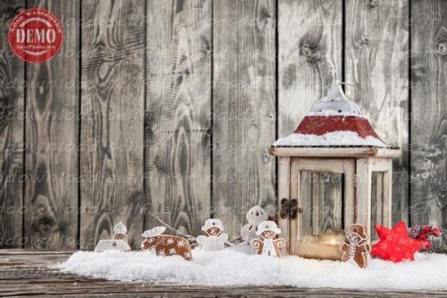 بک دراپ کریسمس تم کوکی های زنجبیلی -کد 6371