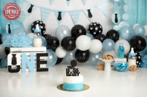 بک دراپ تولد تم نوزاد پسر-کد 6383