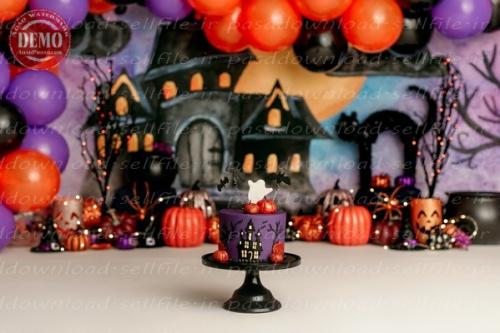 بک دراپ تولد تم هالووین -کد 6384