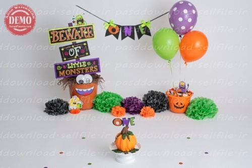 بک دراپ تولد تم هالووین -کد 6390