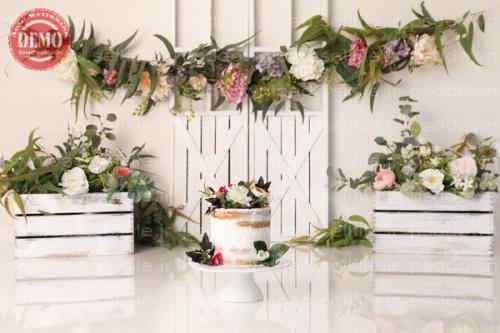 بک دراپ تولد تم گلهای بهاری-کد 6412