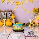 بک دراپ تولد تم اردک و گل آفتابگردون -کد 5988
