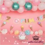 بک دراپ تولد تم بستنی و دونات -کد 6063