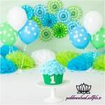 بک دراپ تولد تم سبز و آبی -کد 6106