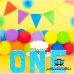 بک دراپ تولد تم رنگارنگ -کد 6113