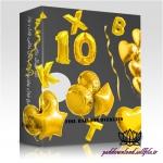 اعداد و حروف و بادکنک های تولد فویلی طلایی