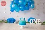 بک دراپ تولد تم آبی -کد 4679