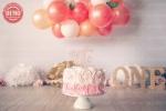 بک دراپ تولد تم گل رز و بادکنک -کد 4680