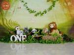 بک دراپ تولد تم حیوانات جنگل -کد 6966