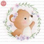 وکتور کارتونی خرس و حلقه گل -کد 24