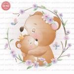 وکتور کارتونی خرس مادر و بچه -کد 25