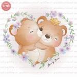 وکتور کارتونی خرسای عاشق -کد 27