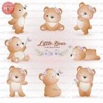 وکتور کارتونی خرس کوچک در 8 طرح -کد 35