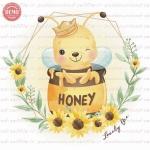 وکتور کارتونی زنبور در کوزه عسل -کد 37