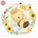 وکتور کارتونی زنبور عسل خوشحال -کد 40