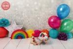 بک دراپ تولد تم رنگین کمان -کد 7363