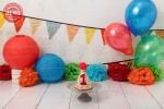بک دراپ تولد تم رنگارنگ -کد 7368