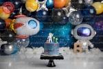 بک دراپ تولد تم فضانورد -کد 7404